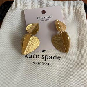 NWT Kate Spade  Metal Petal drop earrings